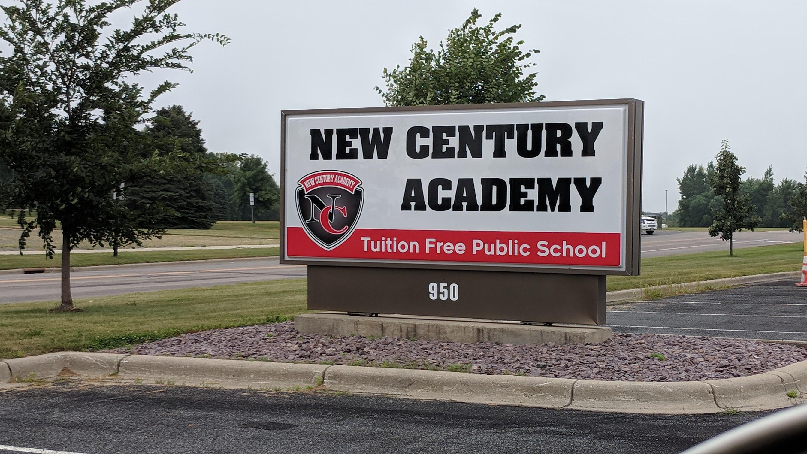 New Century Academy Sign